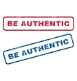 Be Authentic Rubber Stamps vector image vector image