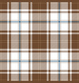 beige and blue tartan plaid seamless pattern vector image vector image