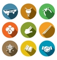 Billiard flat icon collection vector image vector image