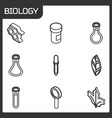 biology outline isometric icons vector image vector image