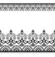 border pattern elements with flowers and lace vector image vector image
