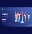 business startup successful team achievement web vector image vector image