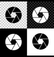 camera shutter icon isolated on black white and vector image vector image