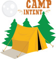 Camp Intent vector image vector image
