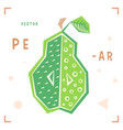 cartoon pear cartoon pear isolated vector image