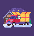 christmas delivery service vector image