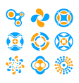 Circle logo elements vector image vector image