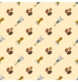 coffee barista seamless pattern vector image vector image