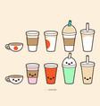 coffee cup drink cartoon design vector image vector image