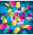 Colorful abstract background with round objects vector image vector image