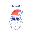 cute santa clause in sunglasses vector image