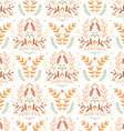 Damask style floral pattern vector image vector image
