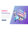 digital marketing online web page statistics vector image