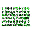 ecology icons set sketch hand drawn vector image vector image
