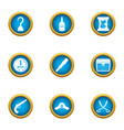 filibuster icons set flat style vector image vector image