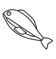 fishing icon outline style vector image