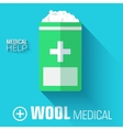 flat medical wool background concept vector image vector image