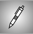 flat pen icon flat pen in eps 10 vector image