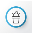 flowerpot icon symbol premium quality isolated vector image vector image
