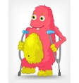Funny Monster Disabled vector image