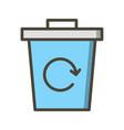 garbage recycle icon vector image vector image