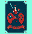 girl gamer poster video games vector image vector image