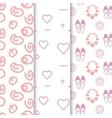 Girl seamless pattern set Light pink white vector image vector image