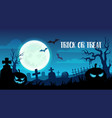 halloween holiday trick or treat cemetery design vector image vector image