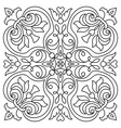 Hand drawing zentangle mandala element Italian vector image vector image