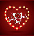 happy valentines day card heart light shiny vector image