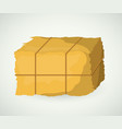 hay block of agriculture and farm design vector image
