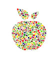 healthy apple silhouette vector image vector image