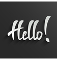Hello lettering Greeting Card vector image vector image