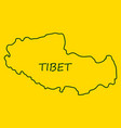 highly detailed country map tibet vector image vector image