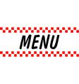 Hotel Diner Menu vector image vector image