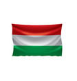 hungary flag vector image vector image