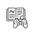 learning game - line design single isolated icon vector image vector image