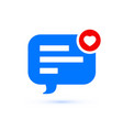 like message bubble comment and notification vector image