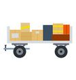 luggage cart flat material design isolated object vector image