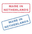 made in netherlands textile stamps vector image vector image