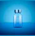 medical ampoule blue vector image vector image