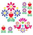 mexican folk art design elements vector image vector image