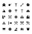 mining tools glyph set vector image