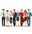 office people business people men and women vector image vector image