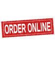 order online grunge rubber stamp vector image vector image