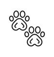 paw prints icon vector image vector image