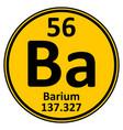 periodic table element barium icon vector image vector image