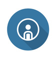 Personal Profile Icon Man in Circle vector image
