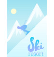 poster of a ski resort vector image
