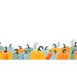 pumpkin seamless border vector image